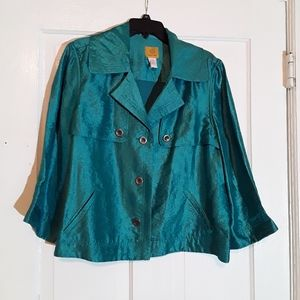 Teal Jacket, Ruby Road, Size 18